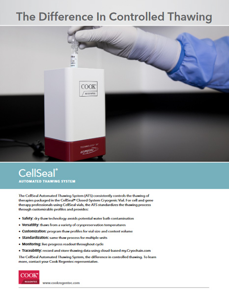 CellSeal® Automated Thawing System