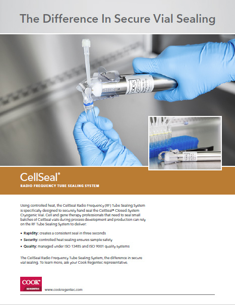 CellSeal® Radio Frequency Tube Sealing System