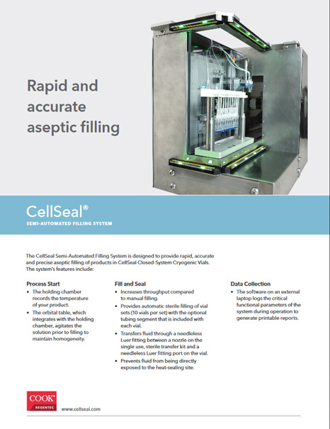 CellSeal® Semi-Automated Filling System